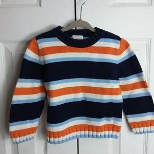 Talbots Kids Orange and Blue Striped Sweater